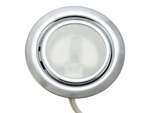 Spotlight lighting furniture closeup. On white background Royalty Free Stock Image