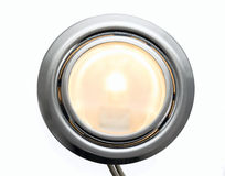 Spotlight lighting furniture closeup. On white background Royalty Free Stock Photos