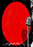 Spotlight On A Microphone Stock Image