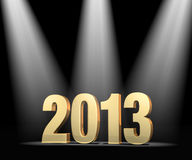 Spotlight on New Year 2013 Stock Photo