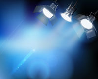 Spotlight from a performance. Stock Image