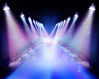 Spotlight during the performance. Vector illustration. Royalty Free Stock Photos