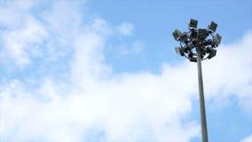 Spotlight pillar stock video footage