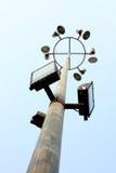 Spotlight pole. On blue background Royalty Free Stock Image