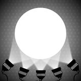 Spotlight projecting to blank wall. Vector eps 10 Stock Image