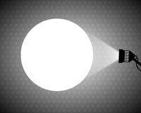 Spotlight projecting to blank wall Royalty Free Stock Photography