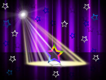 Spotlight Purple Means Stage Lights And Beam Royalty Free Stock Images