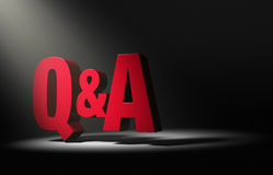 Spotlight On Question And Answer Royalty Free Stock Photos