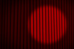 Spotlight Red Movie Curtains Royalty Free Stock Photos