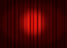 Spotlight on red Stage Curtains Royalty Free Stock Photos