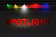 Spotlight scene Stock Image