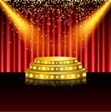 Spotlight of shining on stage background. Illustration of Spotlight of shining on stage background Royalty Free Stock Photography