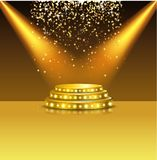 Spotlight of shining on stage background Royalty Free Stock Images