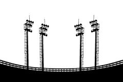 Spotlight silhouette Stock Image