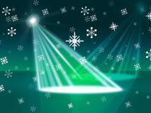 Spotlight Snowflake Indicates Stage Lights And Beam Royalty Free Stock Image