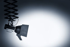 Spotlight. Sportlight flash on a withe wall royalty free stock photography