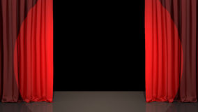 Spotlight on stage curtain Stock Image