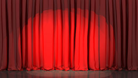 Spotlight on stage curtain Stock Images