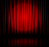 Spotlight on stage curtain Royalty Free Stock Images
