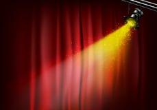 Spotlight on stage curtains. 3d illustration Stock Photos