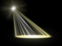 Spotlight Stage Indicates Live Event And Beam Stock Photography