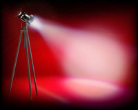 Spotlight on the stage. Vector illustration. Stock Image