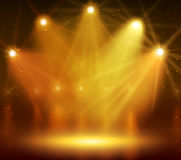 Spotlight on stage for your design. Colorful light. Vector illustration Stock Photos