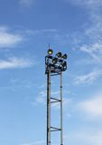Spotlight Tower. An accent lights tower for traffic lights Stock Photo