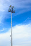 Spotlight tower at sport arena stadium Stock Images