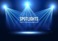 Spotlight vector. Scene illumination royalty free illustration
