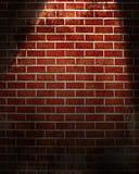 Spotlight on wall Stock Image