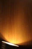 Spotlight on wood stock photo