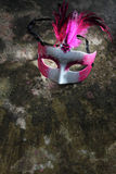 A spotlighted carnival mask Royalty Free Stock Photography