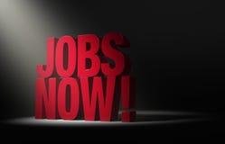 Spotlighting a necessidade para trabalhos agora! Foto de Stock