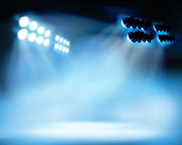 Spotlighting at the stadium. Vector illustration. Stock Photo