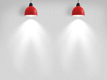 Spotlights Against Wall Royalty Free Stock Photography