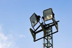 Spotlights. On blue sky background Stock Photo