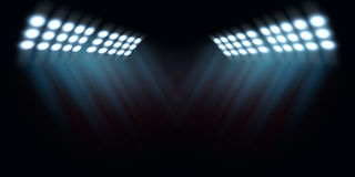 Spotlights. Bright spotlights, stadium lights texture stock photography