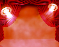 Spotlights on a club stage Stock Image