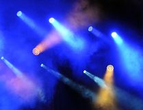 Spotlights at the concert. Stock Photo