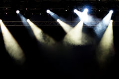 Spotlights. In concert, Concert lights royalty free stock images