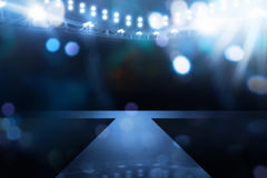 Spotlights illuminate empty stage Royalty Free Stock Photo