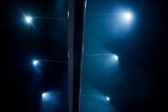 Spotlights at night, Billboard illuminated stock photography