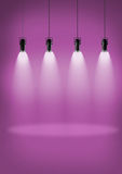 Spotlights pink wall Stock Photo