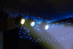 Spotlights shine Royalty Free Stock Photos