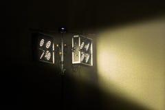 Spotlights shine Stock Photo
