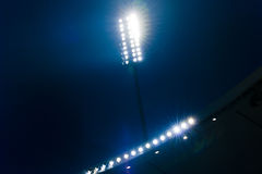 Spotlights in a Stadium Stock Image