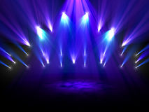 Spotlights on stage Stock Image