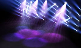 Spotlights on stage Royalty Free Stock Photography