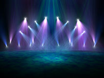 Spotlights on a stage or nightclub Stock Photography